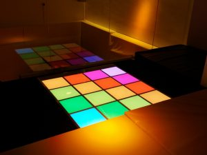 Space 1 Sound and light floor